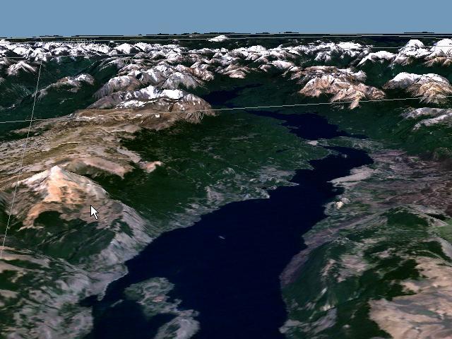 Cordillera patagonica central for Cabine spartiacque vista lago fontana